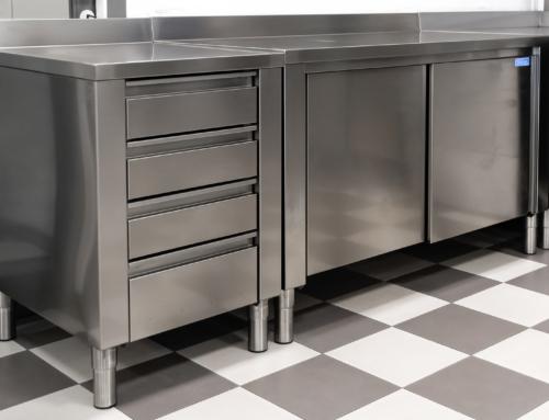 Banchi di lavoro INOX con cassetti